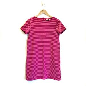 Kenar Shift Pink Striped Shift Short Dress